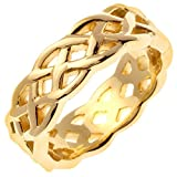 14K Gold Celtic Infinity Knot Women's Comfort Fit Wedding Band (7mm)