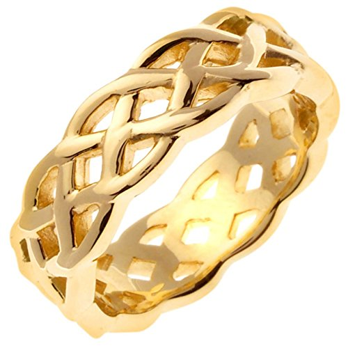 14K Gold Celtic Infinity Knot Women's Comfort Fit Wedding Band (7mm) Size-8c1