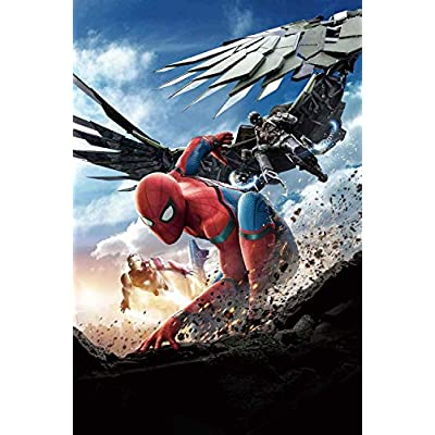 AAPBB Wall Decals Spiderman Posters Marvel Animation Anime Binary Poster Wall Sticker Waterproof Vinyl Self Adhesive Removable Art Murals for Living Room Bedroom Gaming Room 23.5