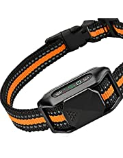 DOGRANGE Dog Shock Bark Collar - w/3 Vibration, Sound & Optional Shock Modes for Dogs Training - Rechargeable Anti Barking Device - No Harm Humane Education - Small, Medium, Large Dogs Breeds - IP67