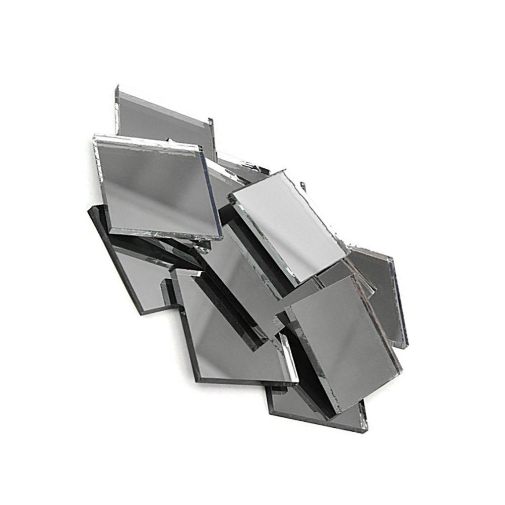 SUPVOX Mini Azulejos de Mosaico de Cristal L/ámina Cuadrada de Cristal Aut/éntico Plateado para Manualidades 1x1cm 200 Piezas
