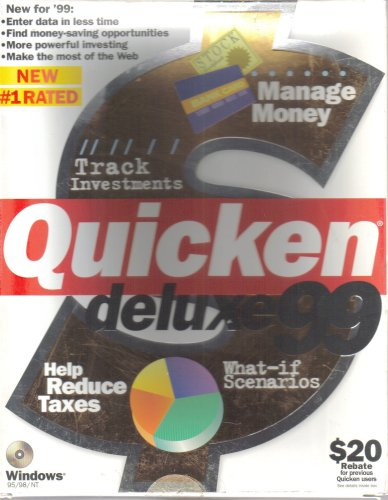 Quicken Deluxe 99 Windows 95 product image