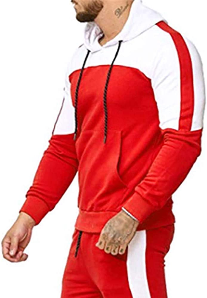 Men Casual Long Sleeve Coat Hoodie Pullover Sweatshirt Top Blouse Athletic Running Cycling Mountain Bike T-Shirt