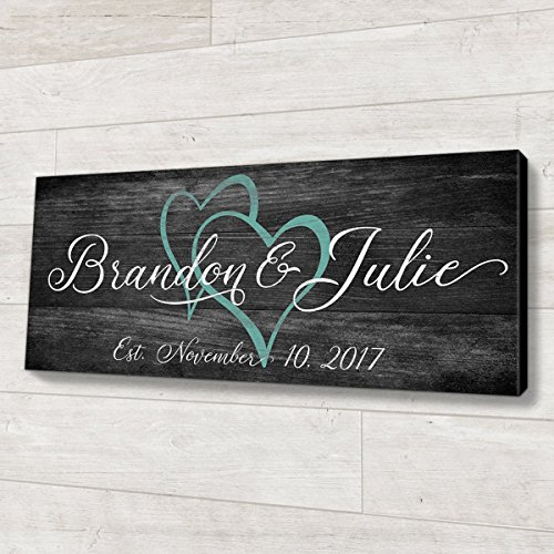 Family Established Wood Sign Personalized Wedding or Anniversary Gift]()