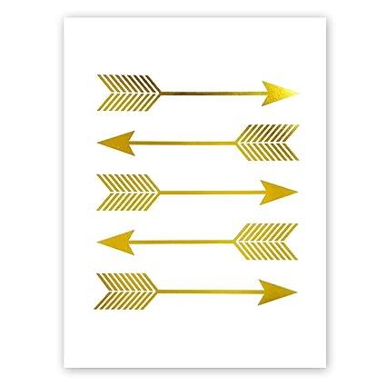 Amazon Com Sanrx Arrows Gold Foil Print Bedroom Living Room