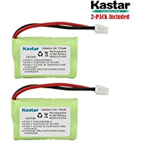 Kastar 2-PACK 4.8V 170mAh Ni-MH Rechargeable Battery for SportDog FR200, SD-400, SD-800, PetSafe Yard & Park Remote Dog Trainer, PDT00-12470 RFA-417 PAC00-12159 FR-200P Collar Receiver plus Coaster