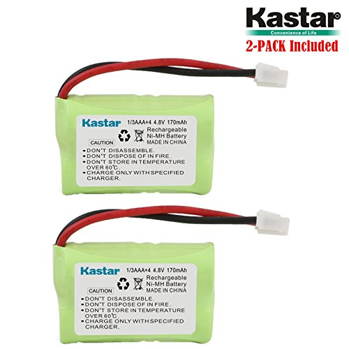 Kastar 2-PACK 4.8V 170mAh Ni-MH Rechargeable Battery for PetSafe Yard & Park Remote Dog Trainer, PDT00-12470 RFA-417 PAC00-12159 FR-200P Collar Receiver plus Coaster, SportDog FR200, SD-400, SD-800 by Kastar