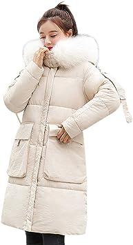 MDenker Damen Kleider Daunenjacke Steppjacke Winterjacke Wattierte Jacke Gro/ße Wolljacke mit Kapuze Koreanischer Stil Rei/ßverschluss Jacke College-Mantel Lange Jacke Outwear mit Strumpfhosen Pumps
