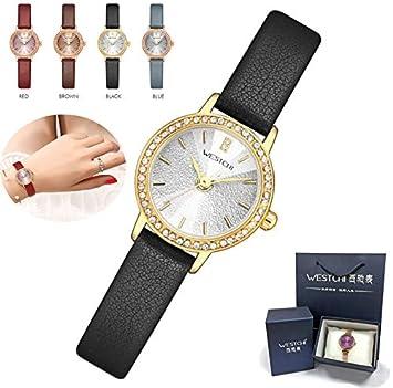 DUABOBAO Reloj De Cuarzo para Mujer, Resistente Al Agua, Caja De Oro Rosa,