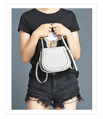 Women Casual Cloe Gray White For Crossbody Bag 22x8x16cm Small Girls Small Kaoling Messenger Bag URcq40T
