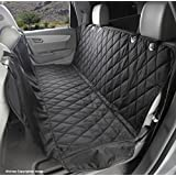 4Knines Dog Seat Cover with Hammock for Cars, Trucks and SUVs - New Waterproof Seat Bottom - USA Based Company (Regular, Black)