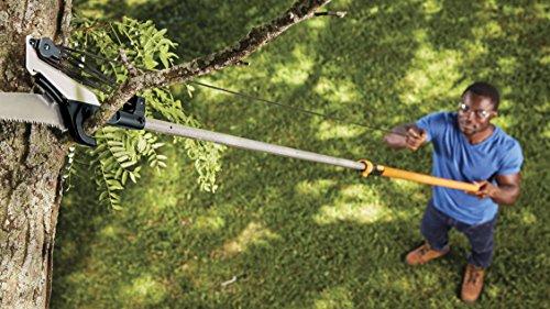 Fiskars, 393951-1001 Extendable Pole Saw & Pruner, 1 Inch Cut Capacity, Orange, 393, Pack of 1