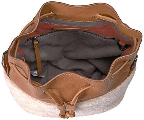 and Shearling Missisippi Bucket Lambskin Berlin Cognac Liebeskind Bag Women's qwHtFvSZxI