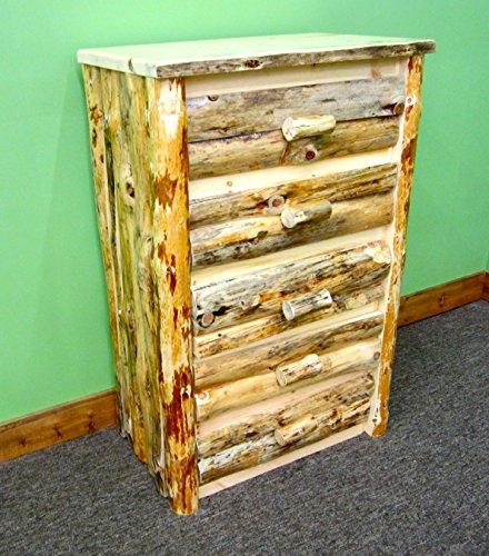 Midwest Log Furniture - Rustic Log Dresser - 5 Drawer