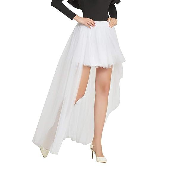 Falda de tutú Alta y Baja de Tul de Malla para Mujer, Falda de ...