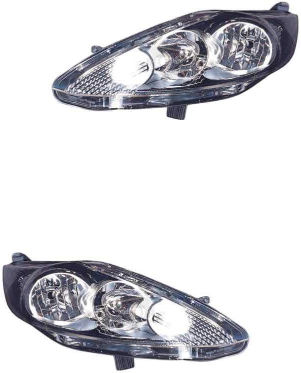 Halogen Scheinwerfer Set links /& rechts Hauptscheinwerfer Frontscheinwerfer H7//H1 f/ür Model Fiesta VI