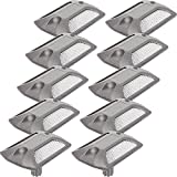 GreenLighting 10 Pack Reflective Road Stud - Commercial Grade Aluminum Road Pavement Marker by (Silver)
