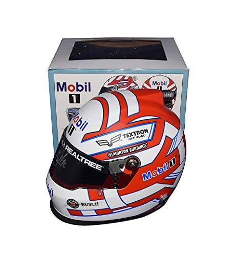 AUTOGRAPHED 2018 Kevin Harvick #4 Mobil 1 Racing (Stewart-Haas Team) Monster Energy Cup Series Signed Lionel NASCAR Replica Mini Helmet with COA