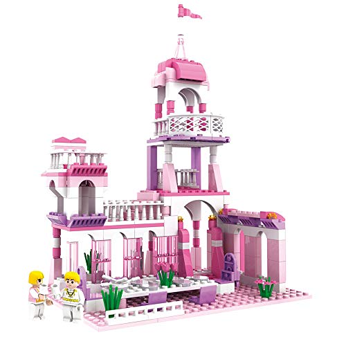 - MONING.C Girls Princess Castle Blocks Set 254 Pieces Toys for Girls Building Bricks Construction Toys for Kids Pink Assembly Toy Christmas Birthday Gift Kids Age 6+