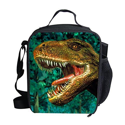Mumeson Cool Animal Dinosaur Print Kids Portable Lunch Bag Thermal Insulated