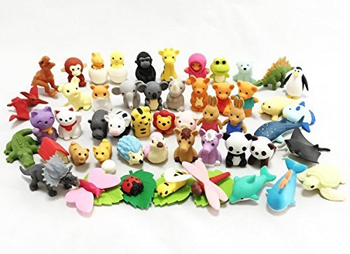 rs - Animal Collection set of 50 (There are 50 pieces decided) (Iwako Erasers)
