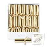 C.R. Gibson CPPF2-19523 Party Cracker Set (8 Piece), 4.4''L x 0.5''W, Gold