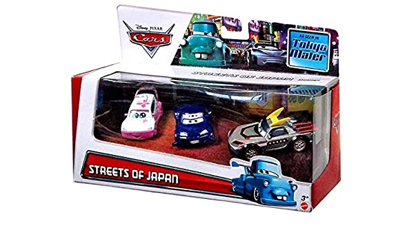 Disney Cars Multi-Packs Streets of Japan 3-Pack 1:55 Diecast ...