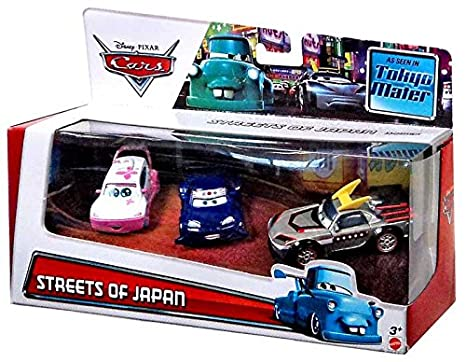 Amazon.com: Disney Cars Multi-Packs Streets of Japan 3-Pack ...