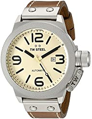 TW Steel Mens CS16 Analog Display Automated Brown Watch
