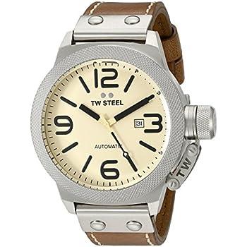 TW Steel Mens CS16 Analog Display Automated Brown Watch