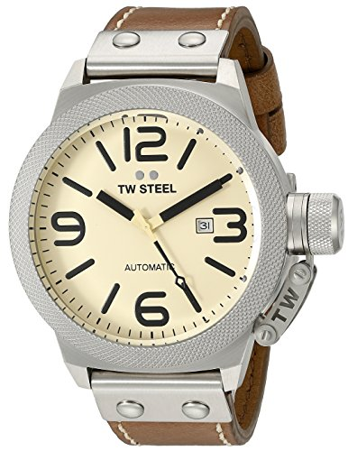 TW Steel Men's CS16 Analog Display Quartz Brown Watch