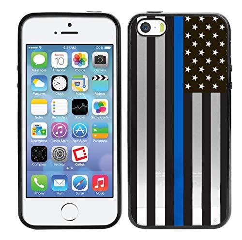 more photos 94388 81254 Amazon.com: Matcase for iPhone 5C Case - Thin Blue Line US Flag Hard ...