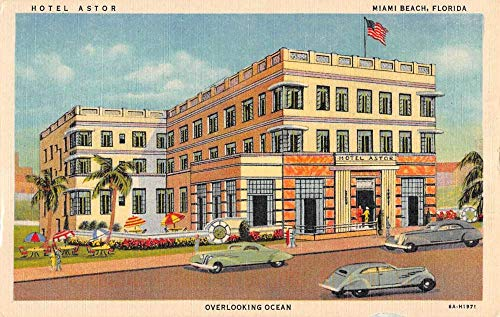 Astor Hotel - Miami Beach Florida Hotel Astor Art Deco Antique Postcard K103921