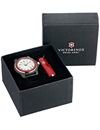 Victorinox para hombre 249087 XL original negro reloj de acero inoxidable, Red/White XL (with Knife)
