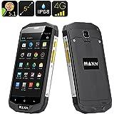 MANN ZUG 5S Rugged Phone - IP68, Quad Core CPU, 3GB RAM, Dual SIM 4G, 5 Inch IPS Screen, NFC, OTG (Silver)
