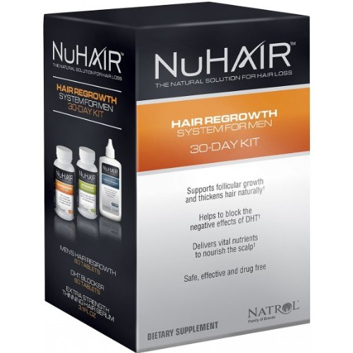 Natrol NuHair NuHair Hair Regrowth System for Men The Natural Solution For Hair Loss