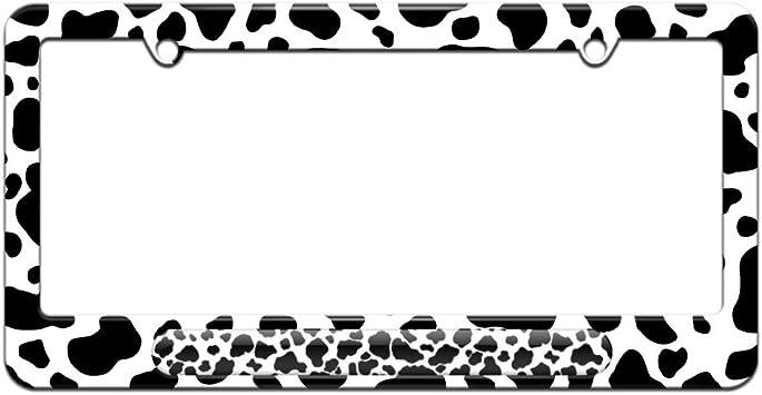 COW print License Plate Frame