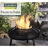 garden feelings feuerschale 75 cm mit funkenschutz und. Black Bedroom Furniture Sets. Home Design Ideas