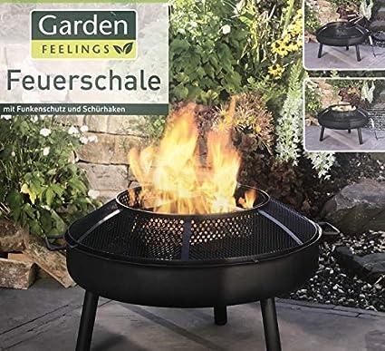 Garden Feelings Feuerschale 75 Cm Mit Funkenschutz Amazon