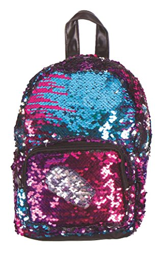 Funky Junque Womens Girls Backpack Festival Rave School Sequin Daypack