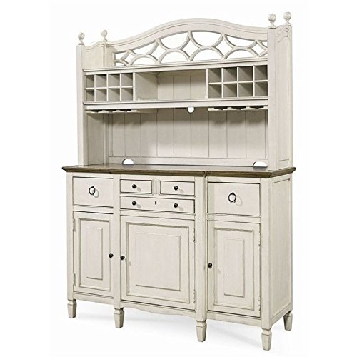 Universal Furniture 987670C Summer Hill Buffet with Complete Bar Hutch, Cotton ()