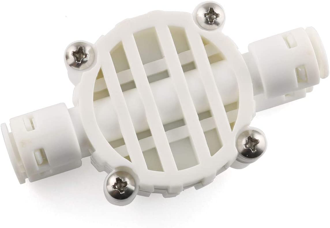 E-outstanding 1//4 Inch Push-Fit 4-Way Automatic Shut-Off Valve with Quick-Connect Fittings for Water Purifier Reverse Osmosis System