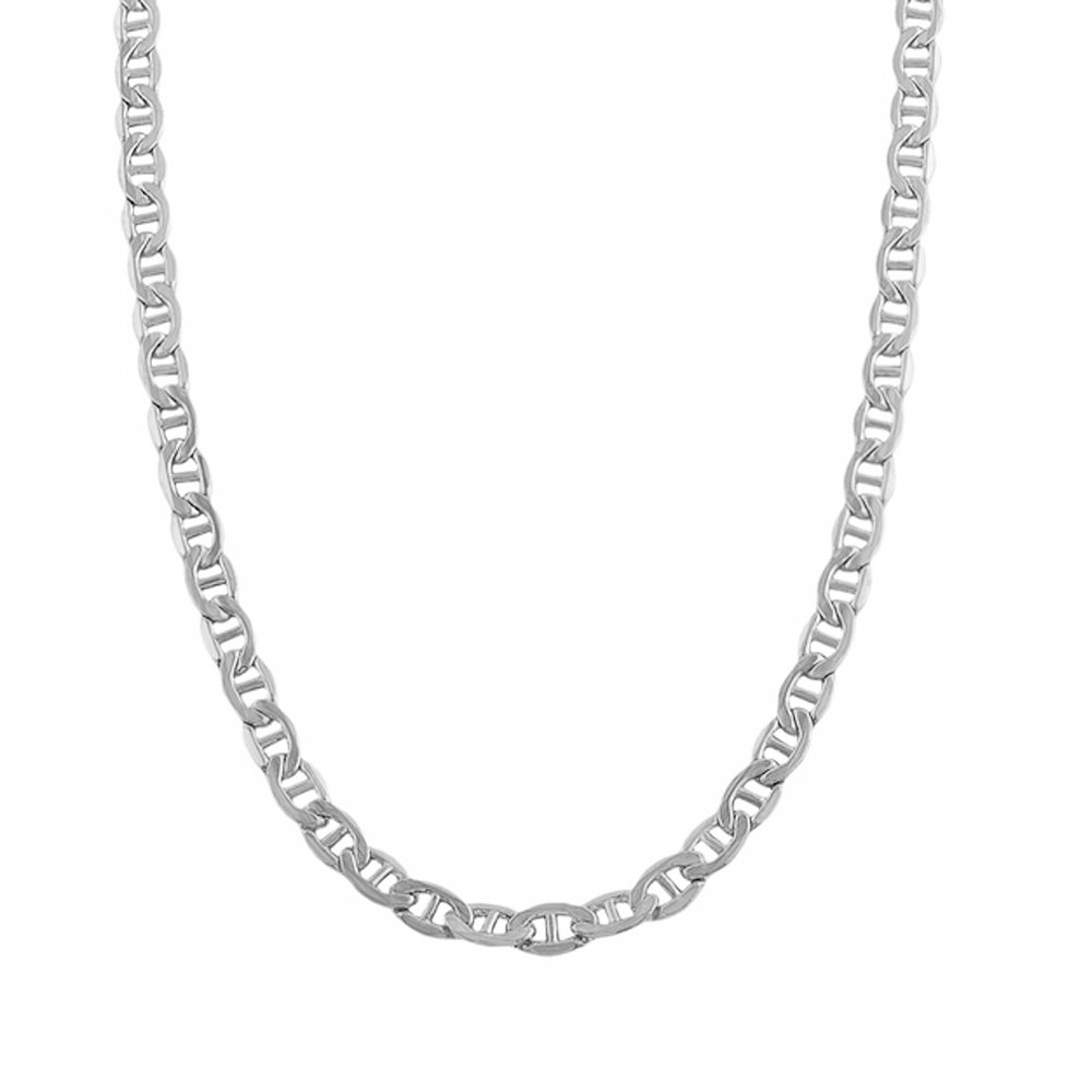 14k White Gold Mariner 060 3.00MM 24'' Chain