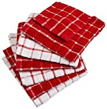 #4: DII Cotton Terry Windowpane Dish Cloths, 12 x 12
