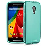 Fosmon® Motorola Moto G 2014 (2nd Gen) Case (DURA-FRO) Slim-Fit Flexible TPU Gel Case Cover for The New Motorola Moto G (2014) - Fosmon Retail Packaging (Teal)