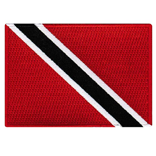 (Trinidad and Tobago Flag Embroidered Patch Caribbean Iron-On National Emblem)