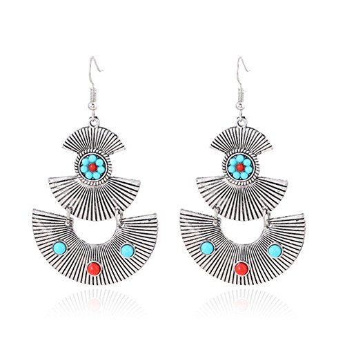 [Elakaka Women's Striped Retro Anchor New Personality Earrings] (Primark Halloween Costumes Uk)