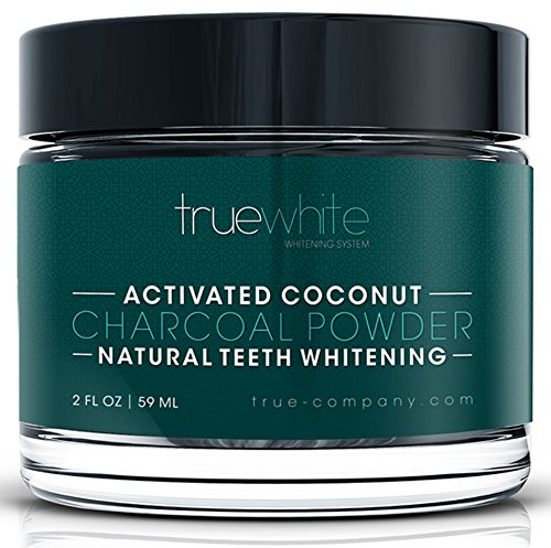 (Amazon Cyber Monday Deals 2018 - TrueWhite Teeth Whitening Activated Charcoal Powder, All Natural Tooth Whitening, Perfect Teeth Whitener w/Pure Charcoal Powder & Coconut, Flavored Teeth Whitener)