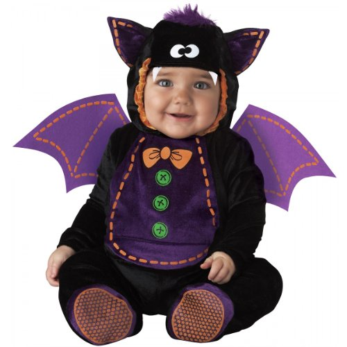 InCharacter Costumes Baby Bat Costume, Black/Purple, Small -