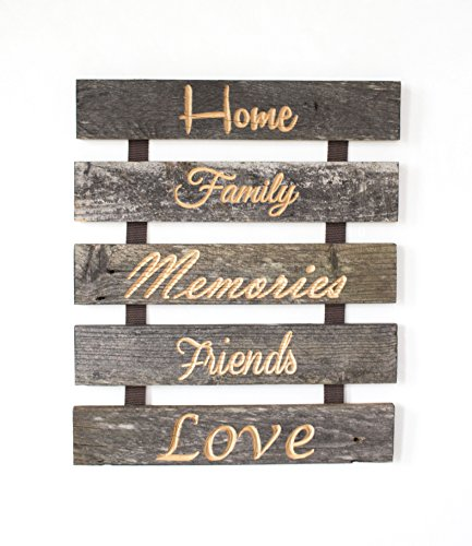 Vintage Rustic Sign - Authentic Barnwood Wall Decor for Perfect for ANY Home, Apartment or Space - Made in the USA - Mounting Hardware Included
